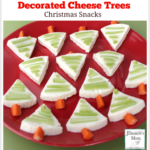 Christmas Snacks- Decorated Cheese Trees : This snack is fun to make with kids.