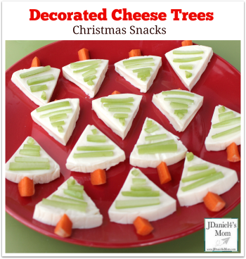 Christmas Snacks – Decorated Cheese Trees