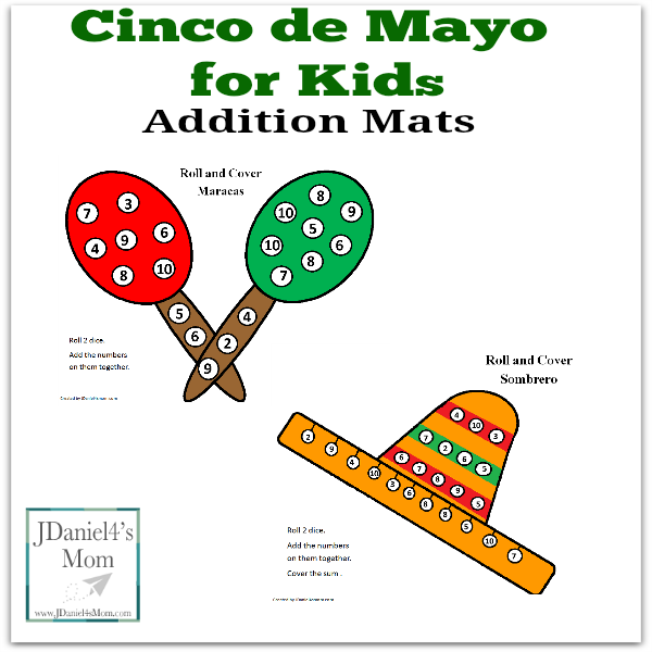 Cinco De May For Kids Addition Mats