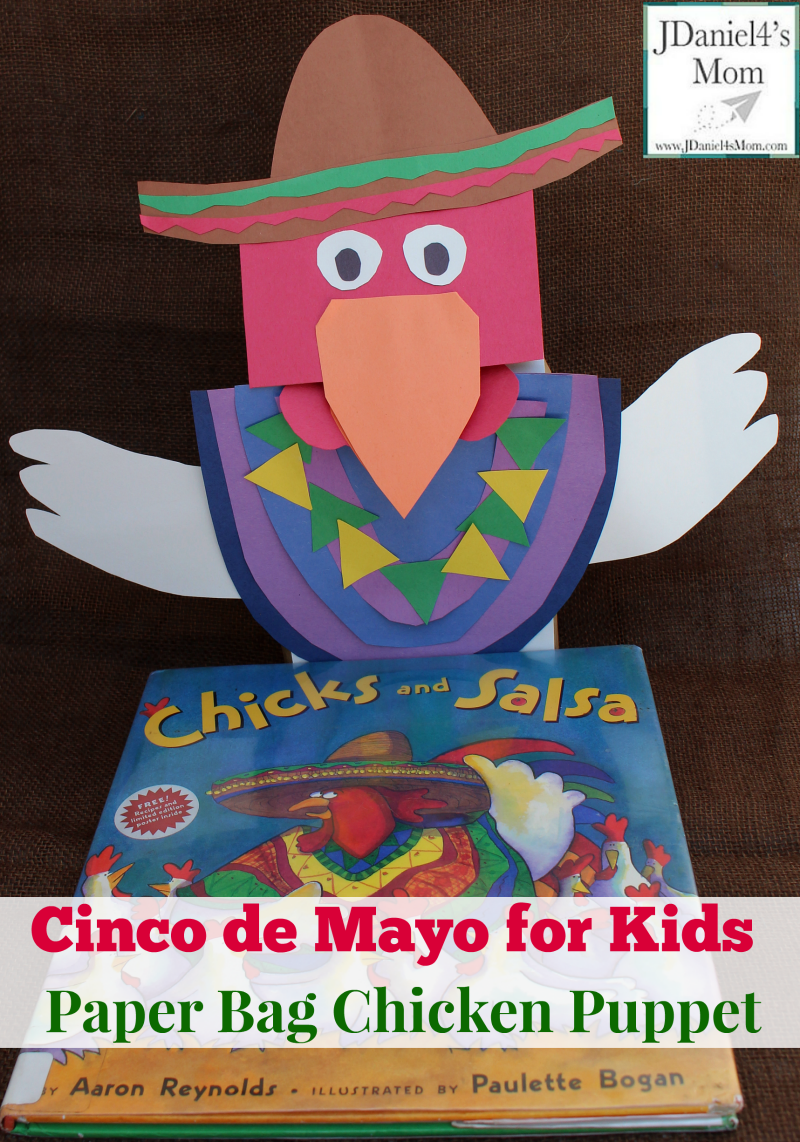 Cinco de Mayo for Kids Paper Bag Chicken Puppet