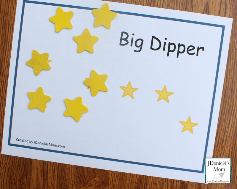 Constellations for Kids - Printable Constellation Mats Big Dipper