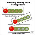 Counting Money with Caterpillars Printable Mats
