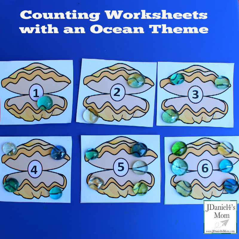 Counting Worksheets with an Ocean Theme