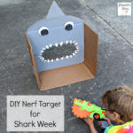 DIY Nerf Target for Shark Week