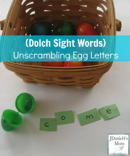 Dolch Sight Words- Unscrambling Egg Letters