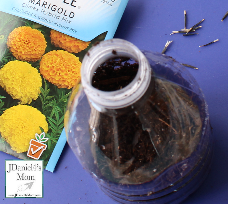 Earth Day Activities- Recycles Planter on a String. The book The Adventures of a Plastic Bottle would be great to read before doing this activity.