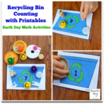 Earth Day Math Activities - Recycling Bin Counting with Printable Recycling Bins