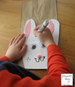 Easter Craft- Bunny Themed Treat Bags