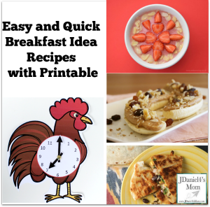 Easy and Quick Breakfast Idea Recipes with Printable