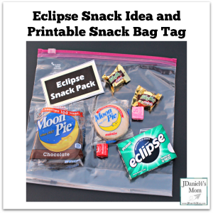 Eclipse Snack Ideas and Printable Snack Bag Tag