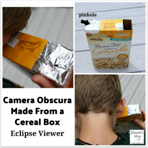 Eclipse viewer camera obscura made from a cereal box for What to make out of cereal boxes