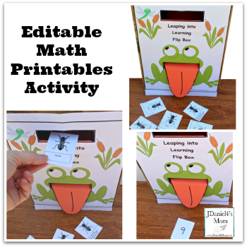 Editable Math Printables Activity- Leap into Leaping Flip Box