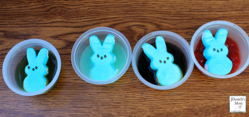 Effects of Liquids on Peeps Peeps in the Liquids
