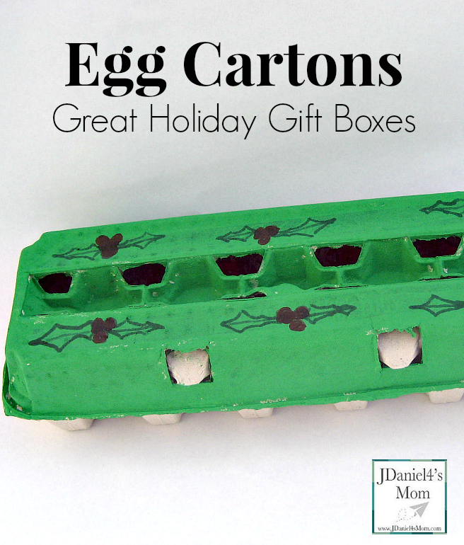 Egg Cartons- Great Holiday Gift Boxes