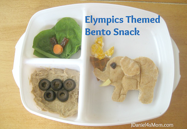 Elympics Bento- A bento lunch with an Olympic theme.