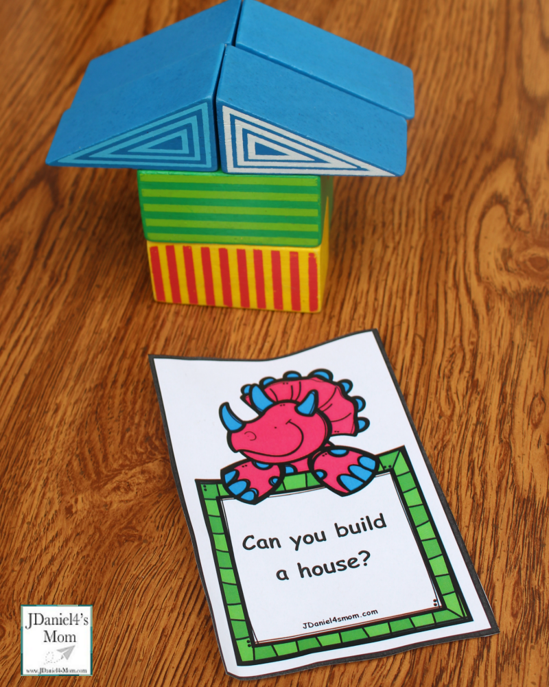 Engineering for Kids- Printable Building Project Cards - Can you build a house picture?