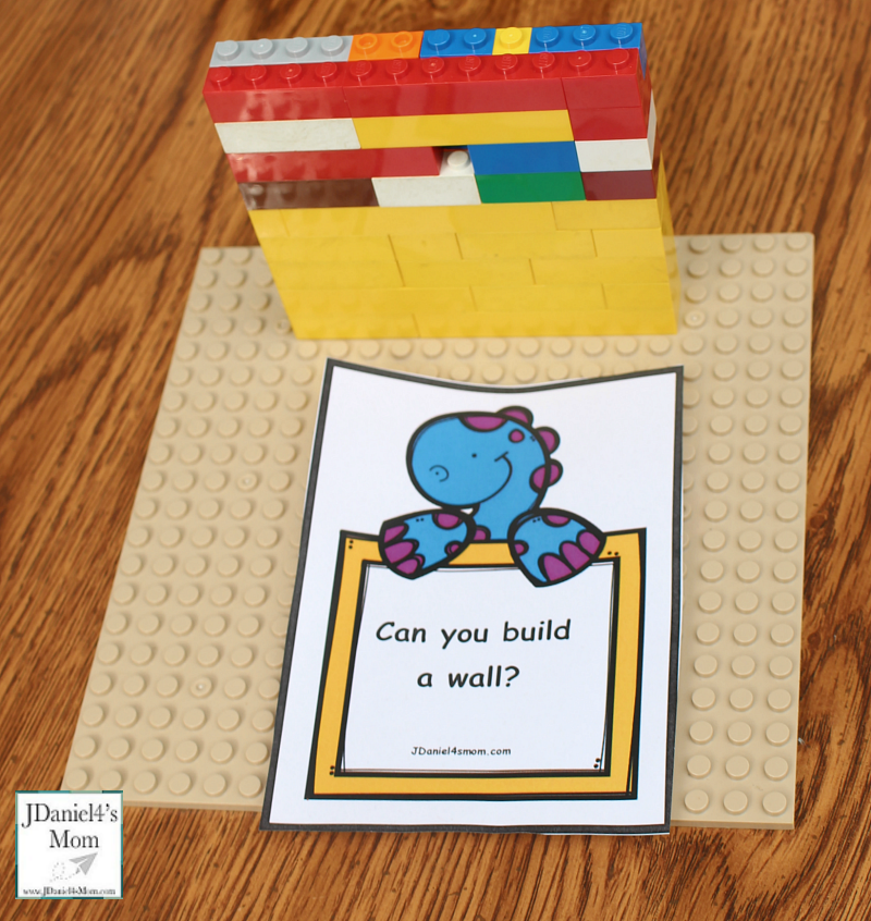 Engineering for Kids- Printable Building Project Cards - Can you build a wall?