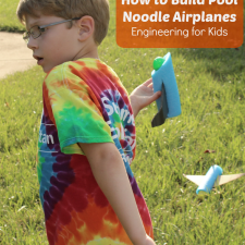 Engineering for Kids- Pool Noodle Airplanes