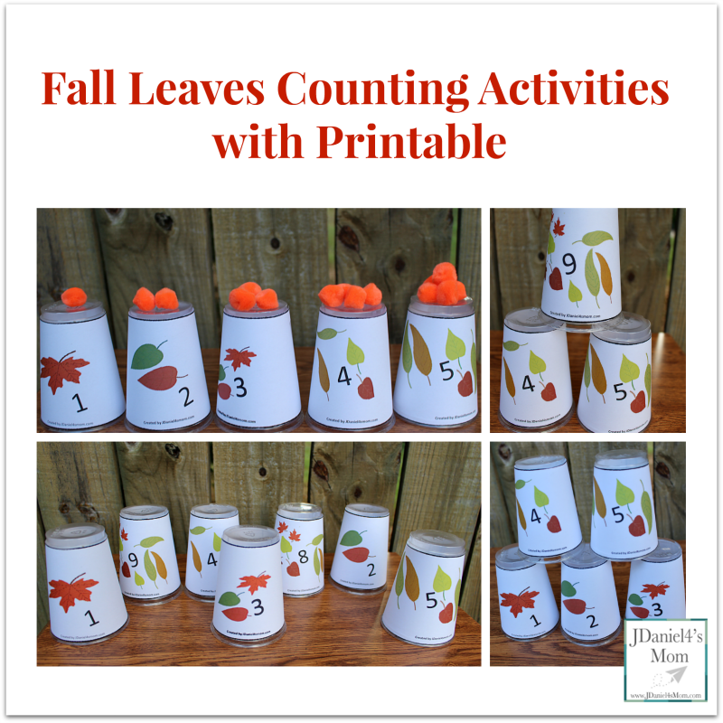 Fall Leaves Counting Activities with Printable