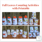 Fall Leaves Counting Activities with Printable- There are a lot of number games you can play with these cups.