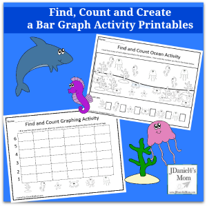 Find, Count and Create a Bar Graph with Ocean Objects Printables