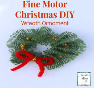 Fine Motor Skills- Christmas DIY Wreath Ornament