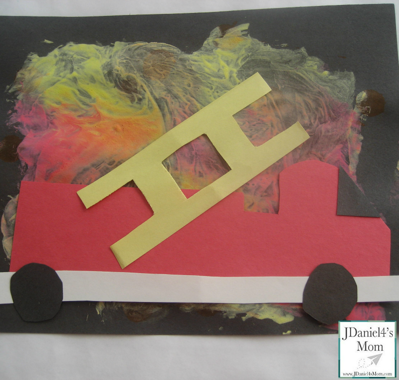 Fire Truck Craft with a Flame Painting