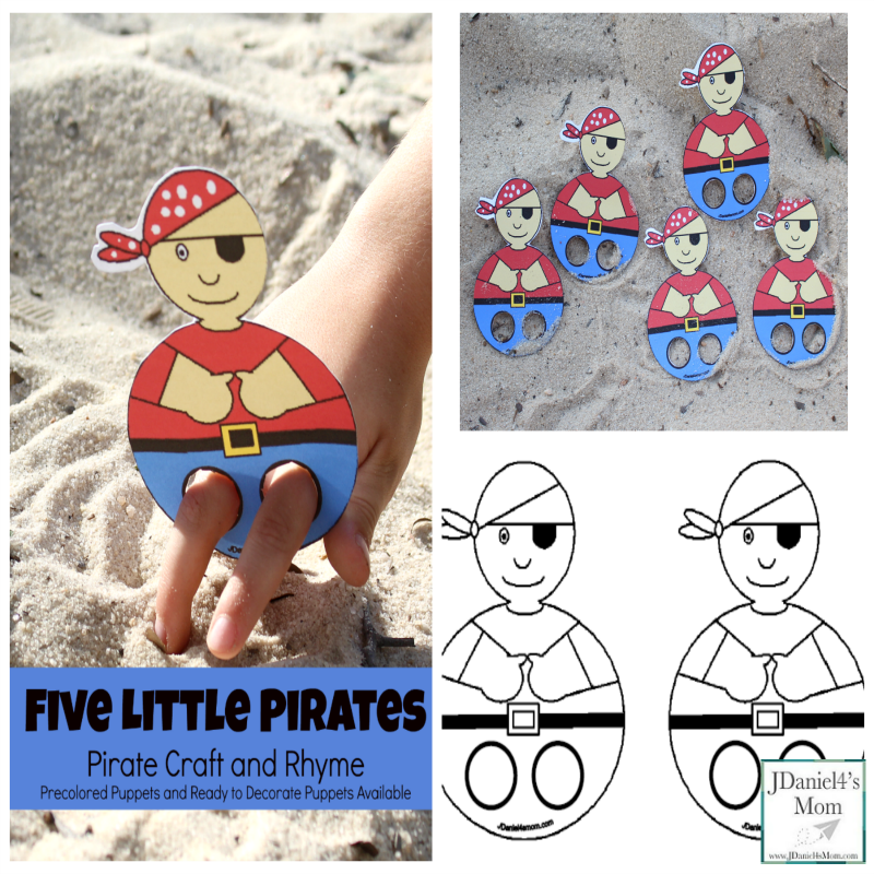 Pirate Craft and Five Little Pirates Rhyme