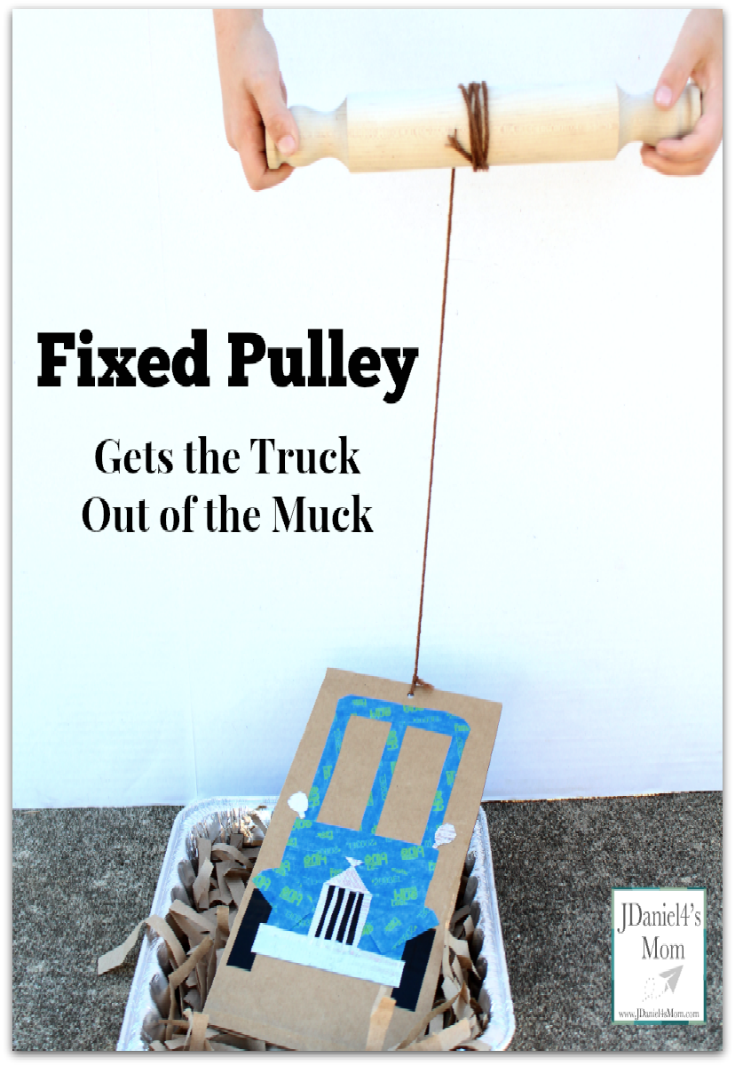 Fixed Pulley Gets the Truck Out of the Muck -This STEM activity was designed to go with the book Little Blue Truck.