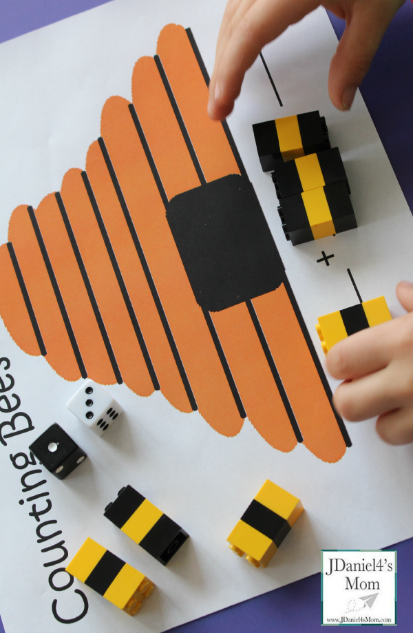 Free Printable Math Worksheets for Kids- Counting Bees