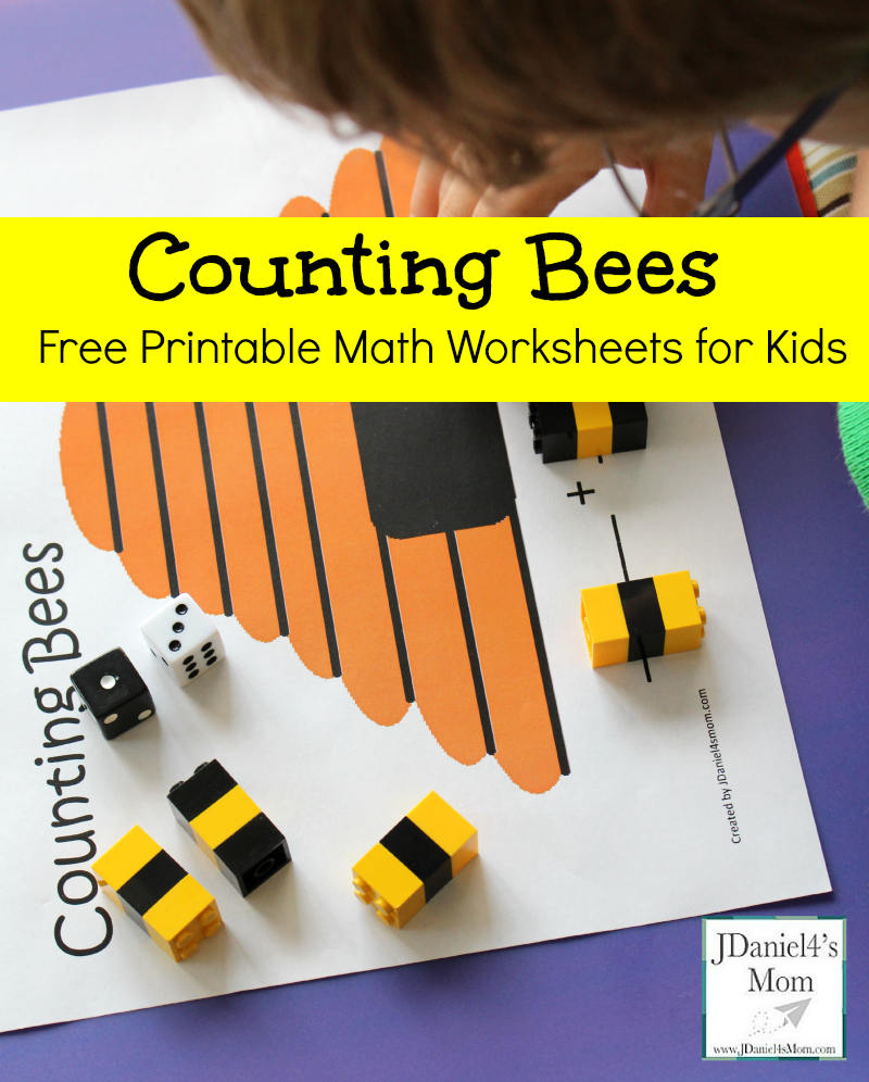 math worksheet : free printable math worksheets for kids counting bees : Free Math Worksheets For Kids