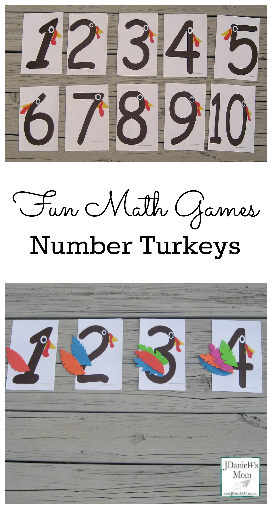 Fun Math Games Number Turkeys