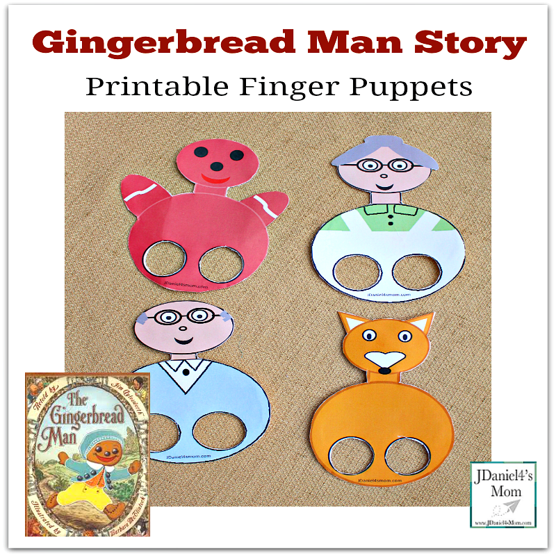 Gingerbread Man Finger Puppets -This set was created to go along with the Jim Aylesworth book. The first four puppets can be used with almost any version of the book.