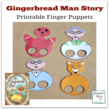 Gingerbread Man Story - Printable Finger Puppets