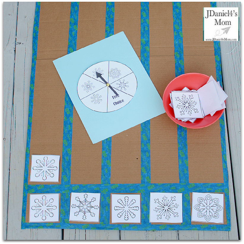 Graphing Practice Worksheet Collection for Kids - Snowflake Themed Graphing : This set includes graphing pieces and spinner. This is a fun way to explore picture graphs.