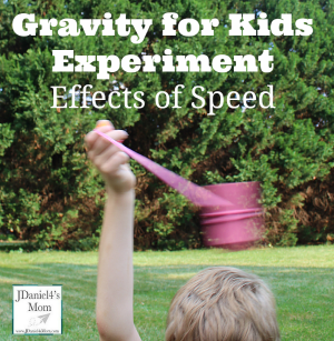 Gravity for Kids Experiment – Effects of Speed
