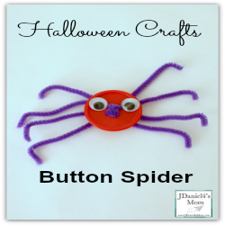 Halloween Crafts- Button Spider
