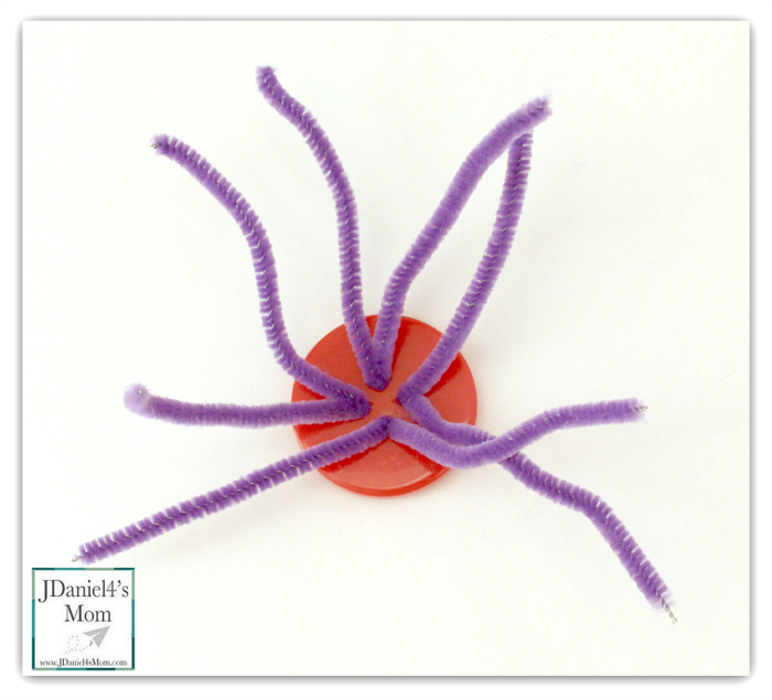 Halloween Crafts Button Spider
