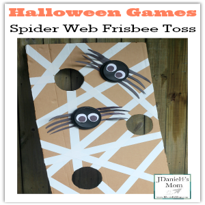 Halloween Games- Spider Web Frisbee Toss