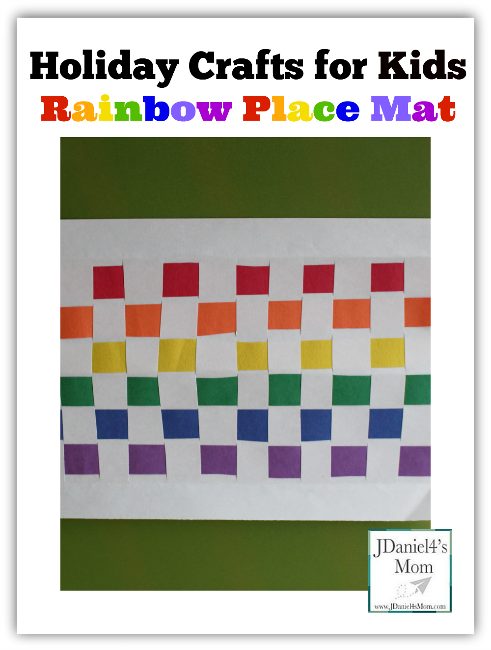 Holiday Crafts for Kids- Rainbow