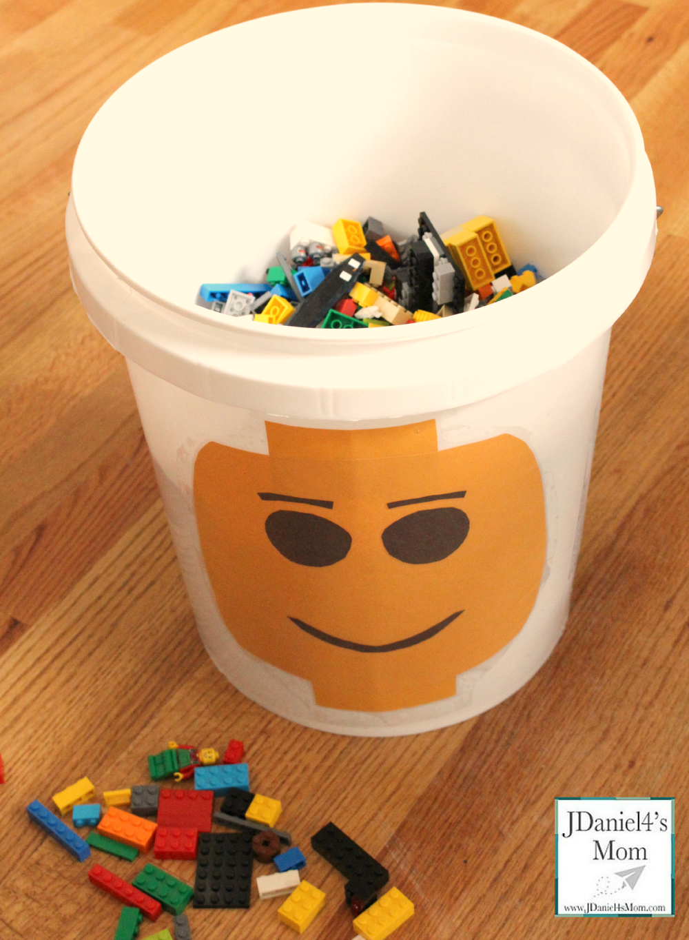 Homemade LEGO Storage Bucket