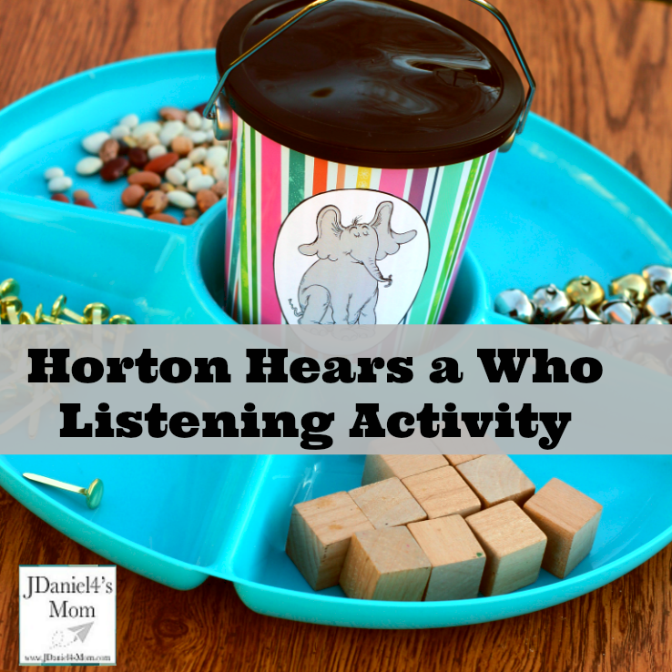 Horton Hears a Who Listening Activity - These are the supplies you will need for you listening activity. They will love listening carefully as Horton did to hear a sound.