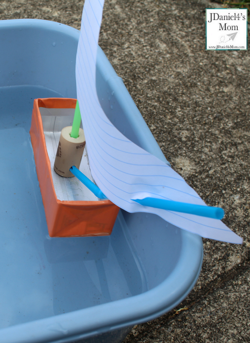 How to Make a Boat with Recycled Materials- View of the boat from behind