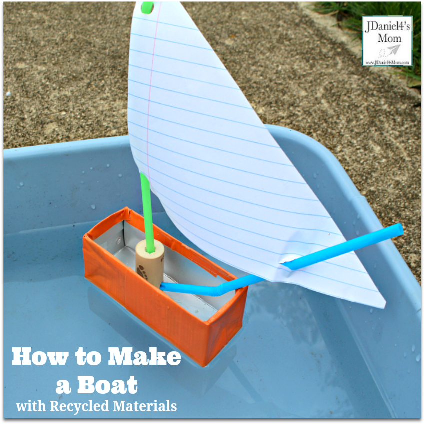 How to Make a Boat with Recycled Materials- This activity is great to do after reading the book Toy Boat.