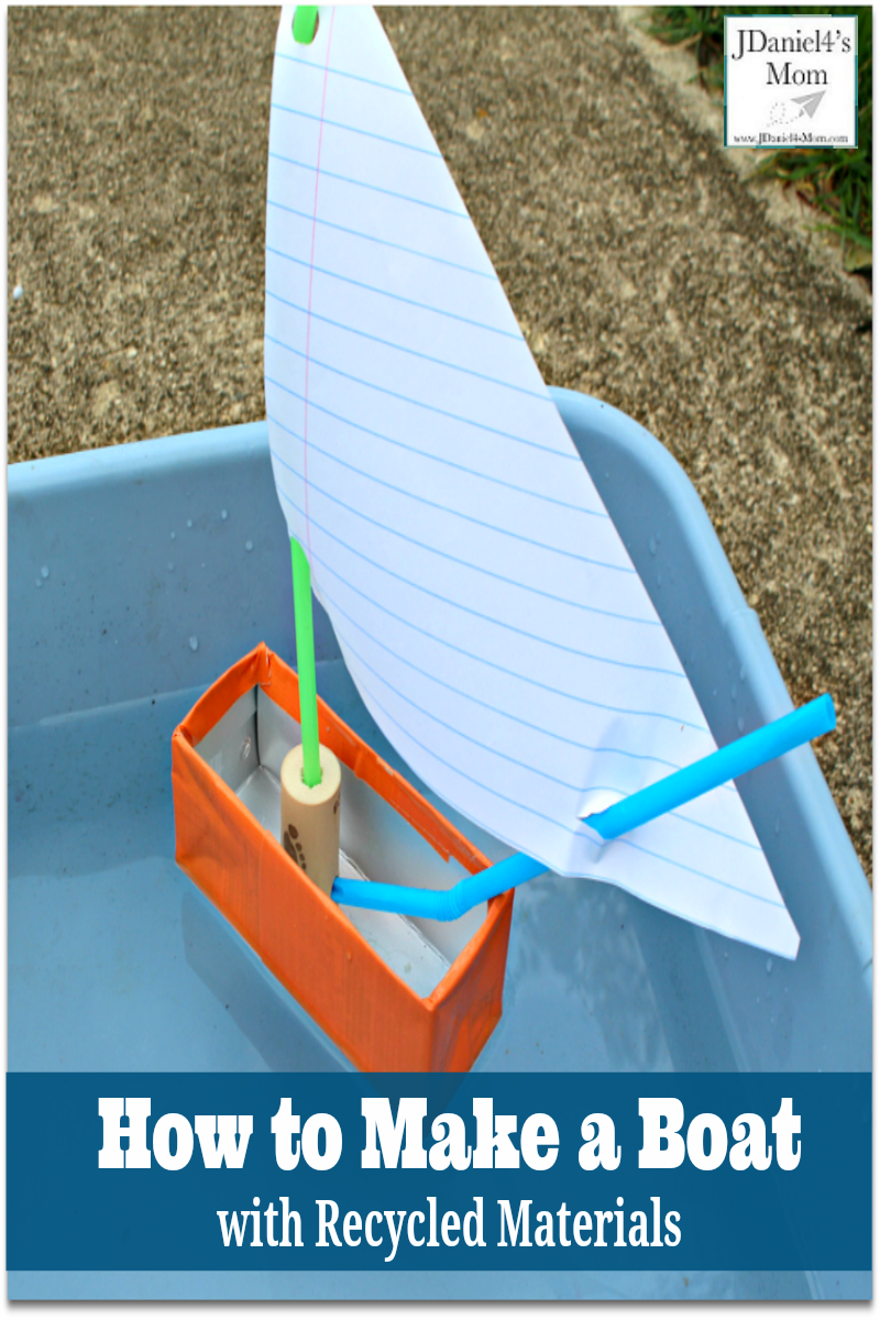 How to Make a Boat with Recycled Materials - This would be fun fun to create after reading the Virtual Book Club book Toy Boat around Earth Day.
