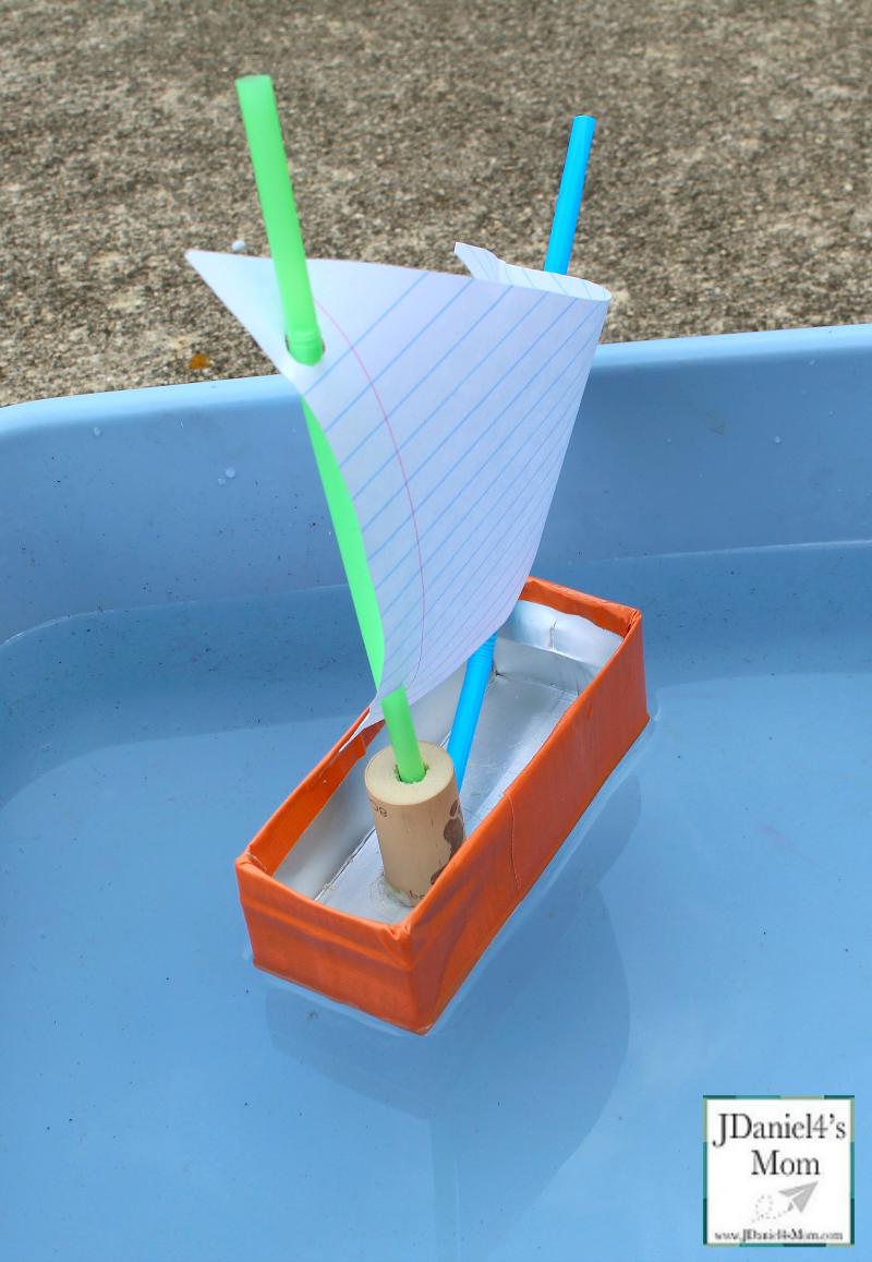How to Make a Boat with Recycled Materials - View of Sail