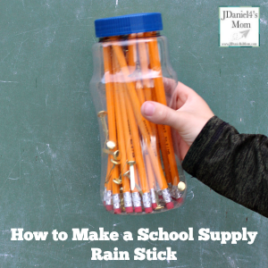 How to Make a School Supply Rain Stick
