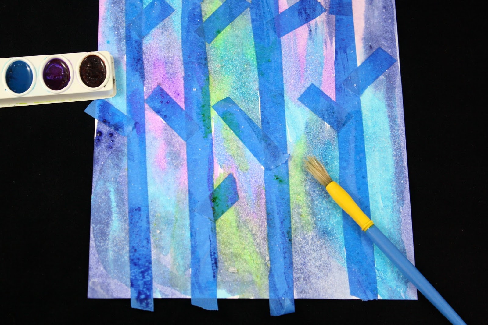 Washi, Painter's and Duct Tape Craft and Activities- Birch Bark Trees