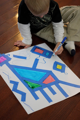 Washi, Painter's and Duct Tape Craft and Activities- Miro Painting