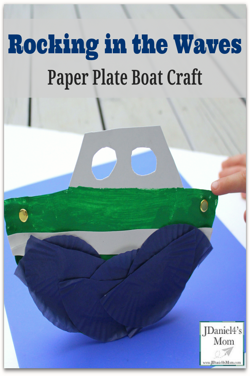 Rocking in the Waves Paper Plate Boat Craft for Kids